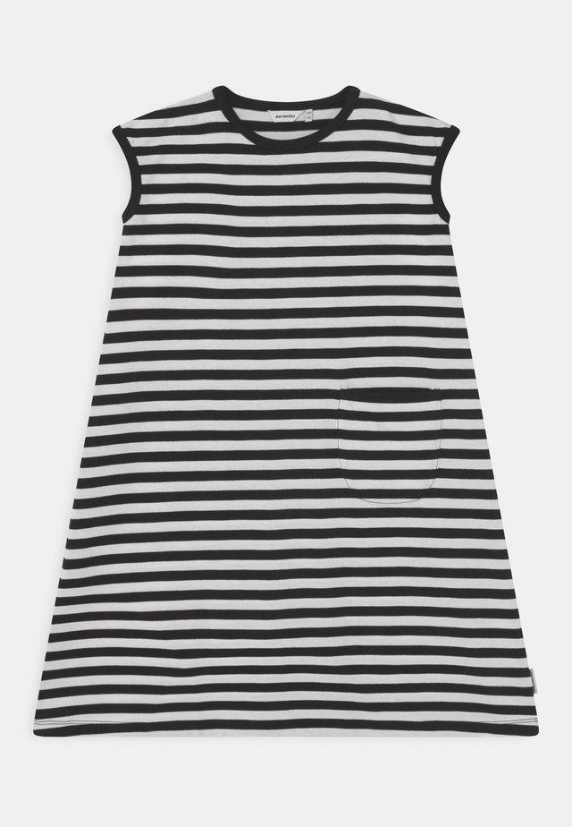 LUOSTOKKA TASARAITA - Jerseyjurk - black/white