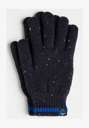 JONGENS RIBGEBREIDE - Gloves - dark blue