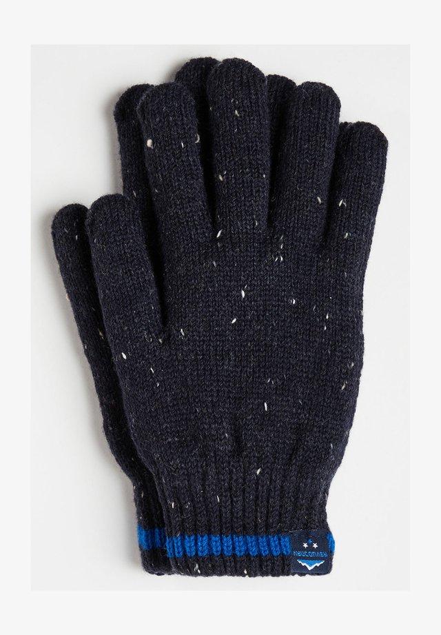 JONGENS RIBGEBREIDE - Handsker - dark blue