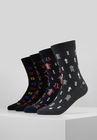 Jack & Jones - JACPARIS SOCKS 4 PACK - Chaussettes - navy blazer/black/dark grey - 0