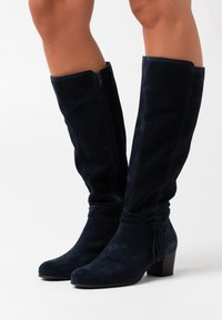 Anna Field Wide Fit - LEATHER - Boots - dark blue - 0