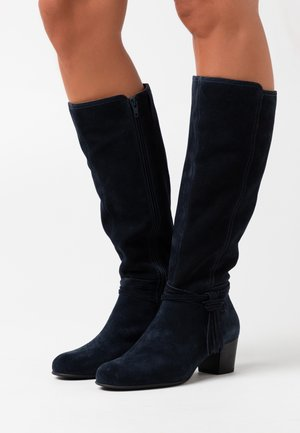 LEATHER - Bottes - dark blue
