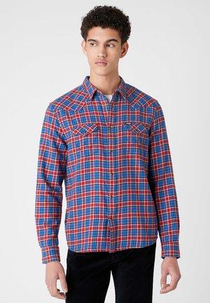LS WESTERN - Shirt - wrangler blue