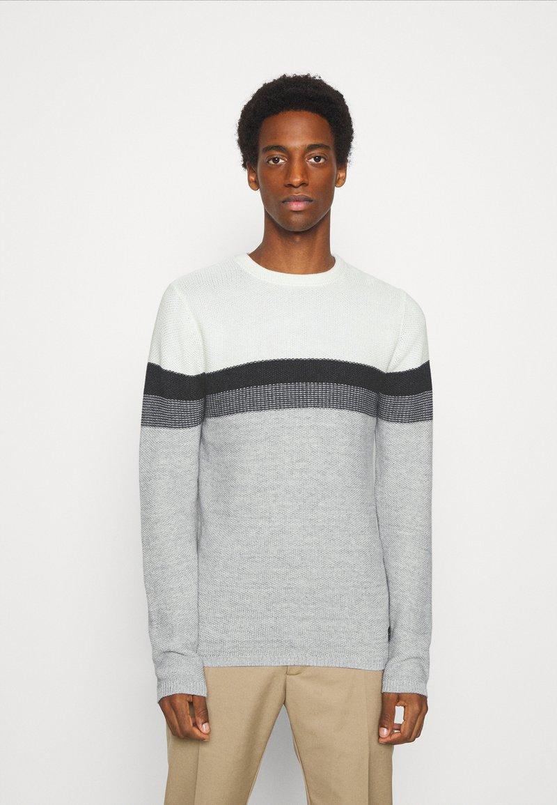 Key Largo - HANSI ROUND NECK - Jumper - off-white/grey