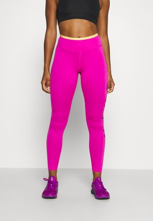 ONE 7/8  - Legginsy - fire pink/topaz gold/black
