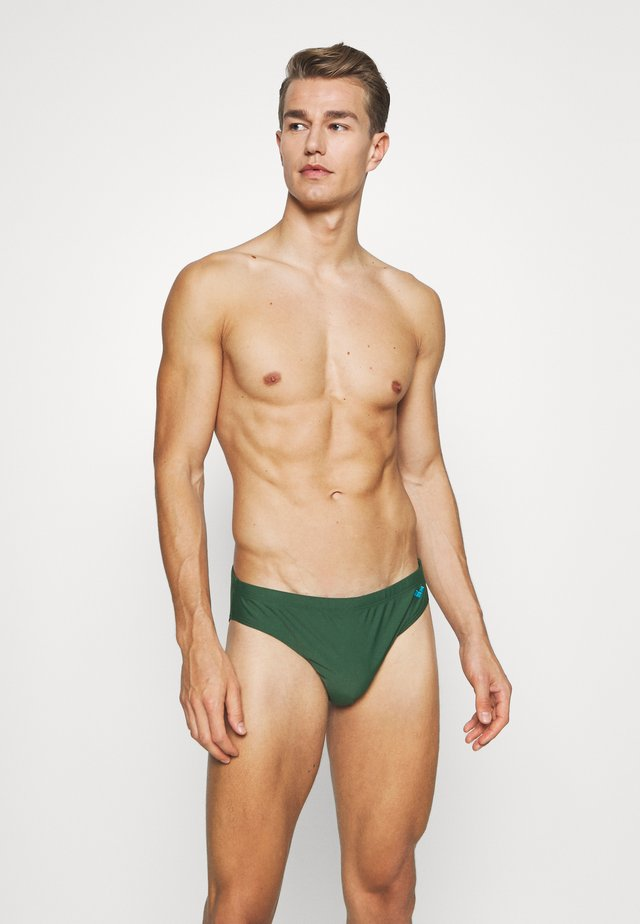SANTAMARIAS - Swimming briefs - deep forest green