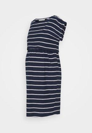 BRETON MATERNITY & NURSING TUNIC DRESS - Jersey dress - navy white stripe