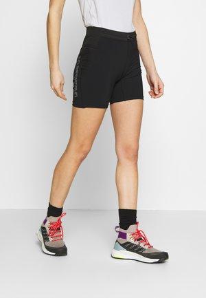 WAFT TIGHT SHORT - Leggings - black/grey