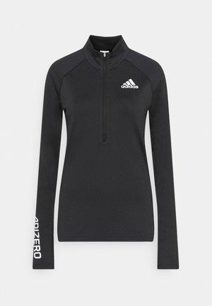 ADIZERO 1/2 ZIP - Long sleeved top - black