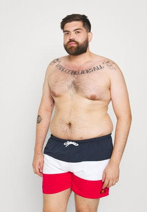 CIELO - Shorts da mare - navy/white/red