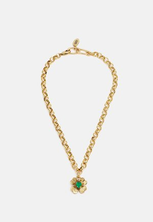 NECKLACE - Necklace - green/gold-coloured