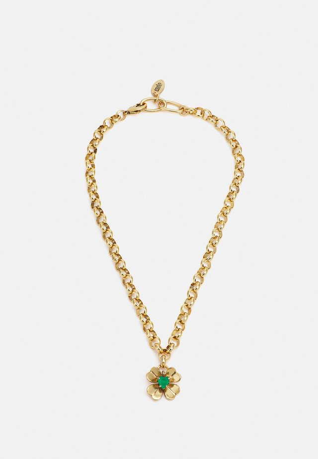NECKLACE - Collana - green/gold-coloured