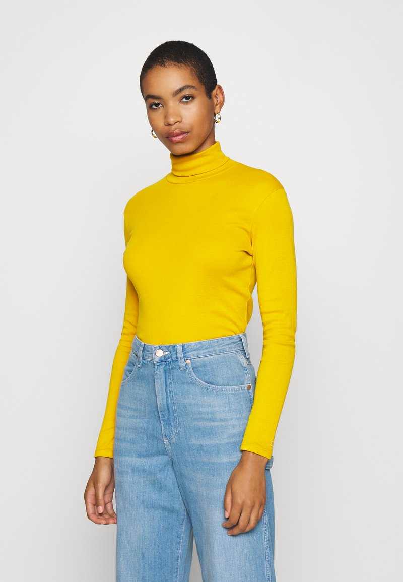Benetton - TURTLE NECK - Long sleeved top - mustard