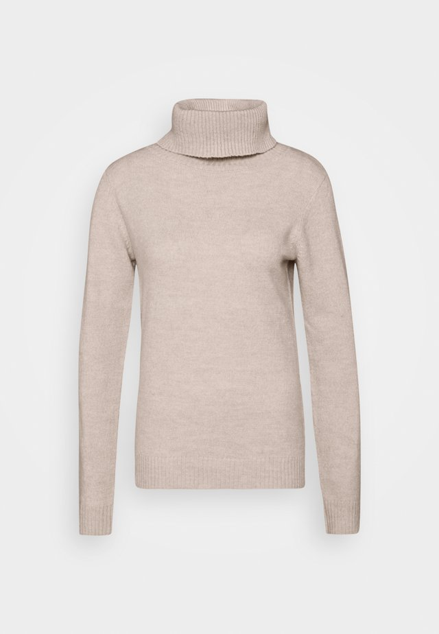 FITTED SPONGY TURTLE NECK - Sweter - grey