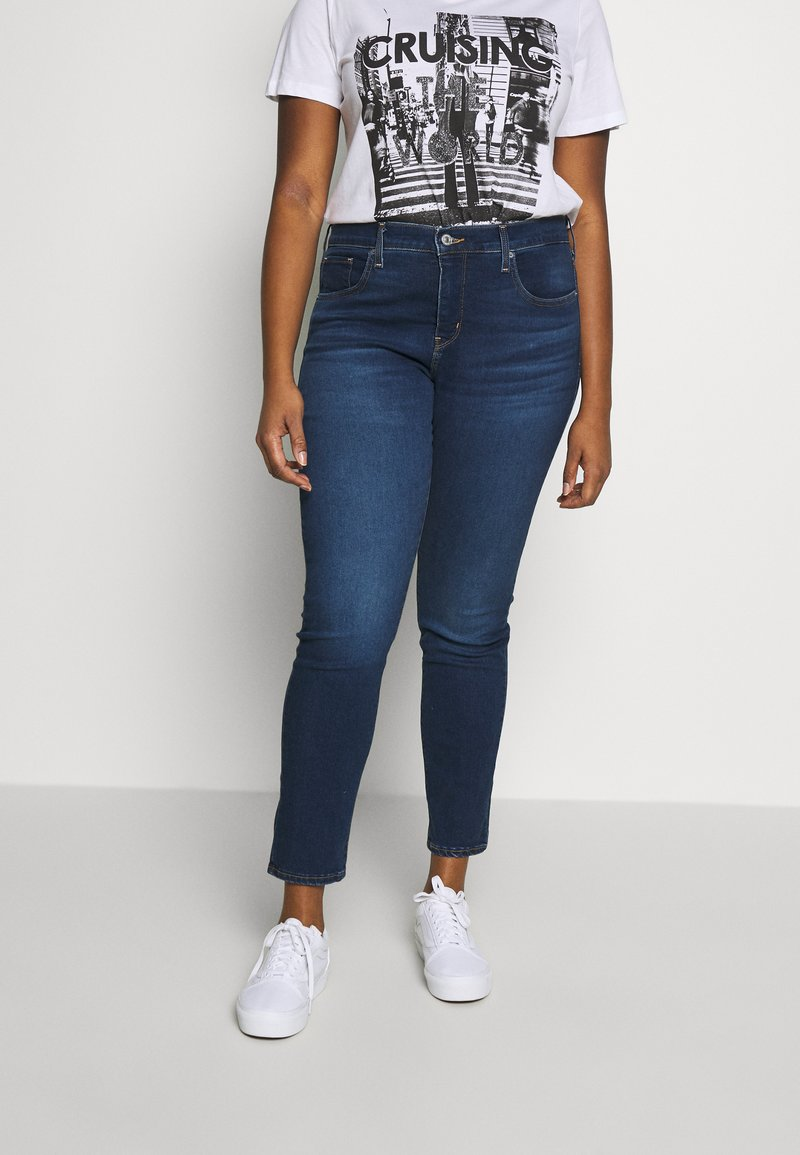 Levi's® Plus - SHAPING SKINNY - Jeans Skinny Fit - london dark indigo