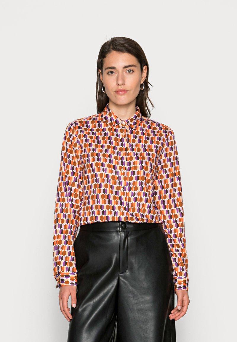 Emily van den Bergh - BLOUSE - Button-down blouse - orange lilac brown