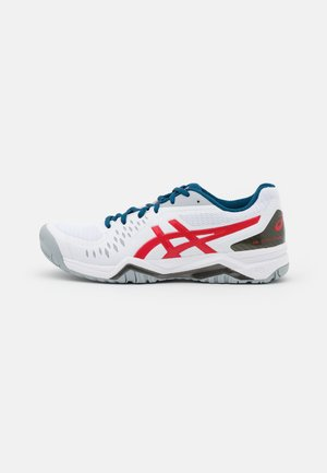 GEL-CHALLENGER 12 - Multicourt tennis shoes - white/classic red
