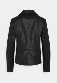 ONLY - ONLMELISA BIKER - Chaqueta de cuero sintético - black - 7