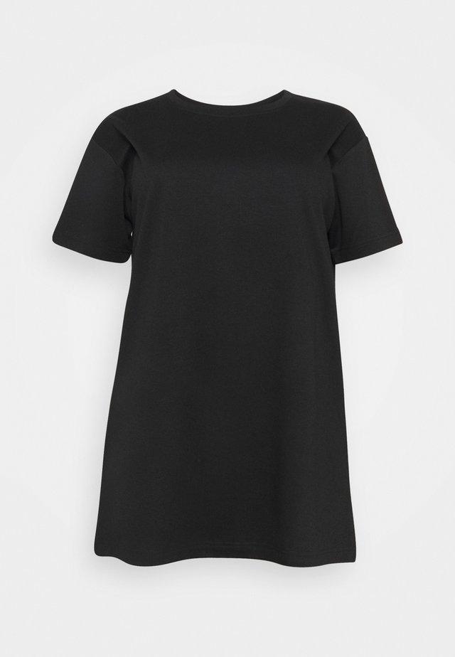 ECINDY TUNIC - Jednoduché triko - black