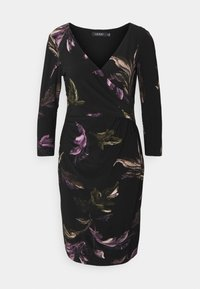 PRINTED MATTE DRESS - Shift dress - black/purple
