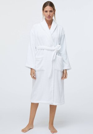 100% COTTON - Dressing gown - white