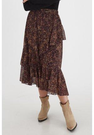 BYHALE - LIGHT WOVEN - A-line skirt - winetasting mix