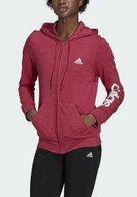 adidas Performance - W LIN FT FZ HD - Felpa aperta - pink - 3