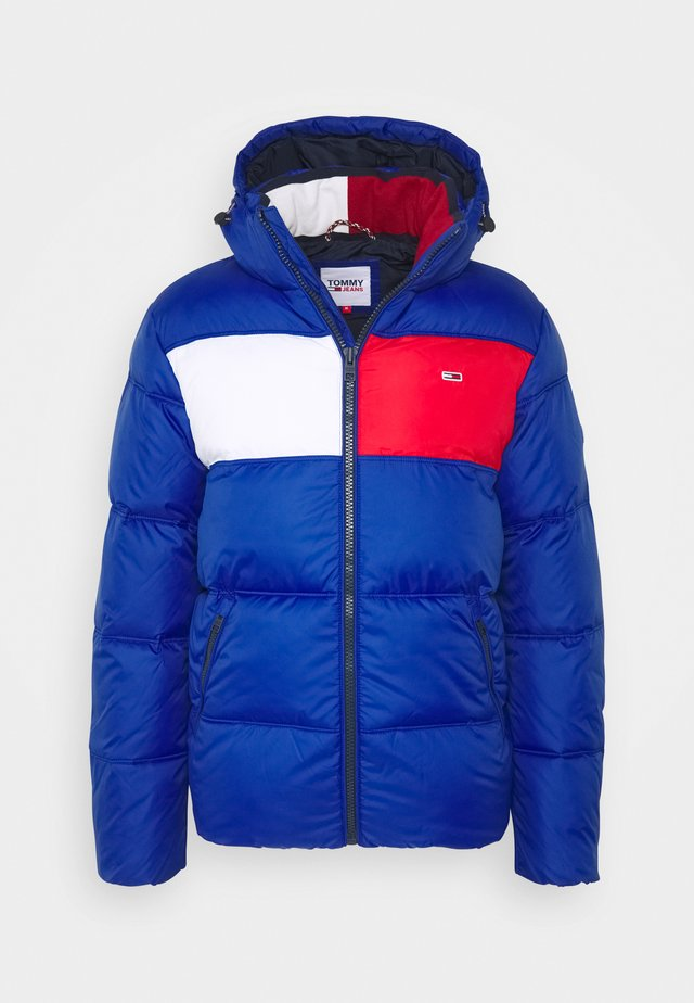 COLORBLOCK PADDED JACKET - Winter jacket - blue/red/white