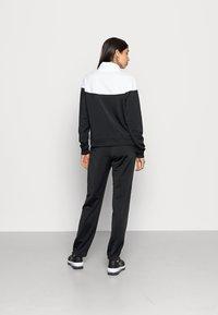 Nike Sportswear - TRACK SUIT SET - Zip-up sweatshirt - black/white - 2
