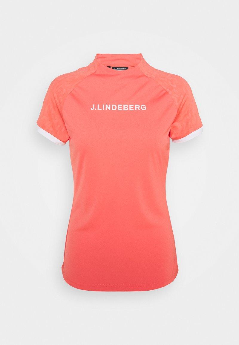 J.LINDEBERG - MEGAN GOLF  - Print T-shirt - tropical coral