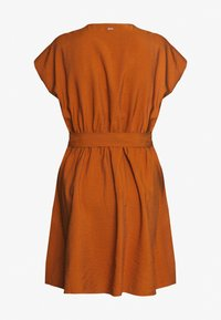 TOM TAILOR DENIM - MINI UTILITY DRESS - Shirt dress - mango brown - 1