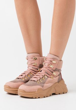 KARLA - Ankle boots - rosa/multicolor