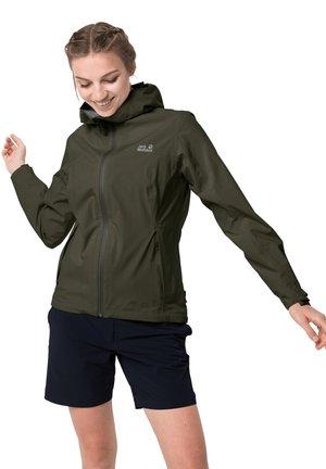 JWP SHELL - Waterproof jacket - green pine