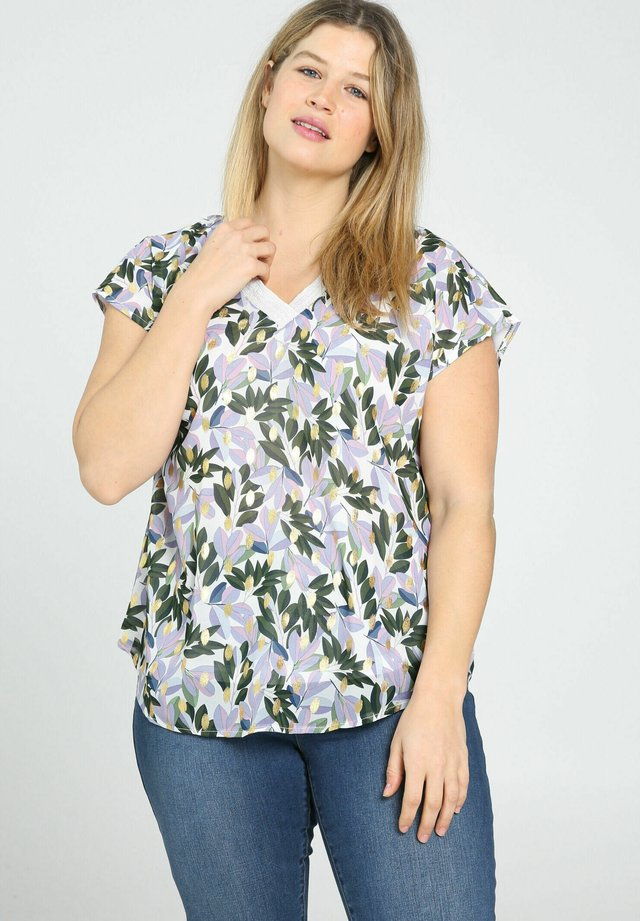 T-shirt con stampa - lilac