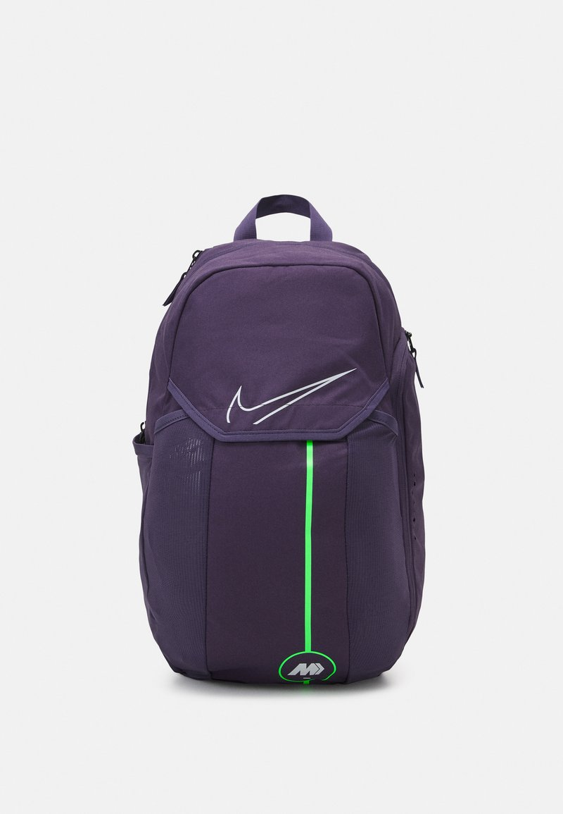 Nike Performance - MERCURIAL - Rucksack - dark raisin/rage green/platinum tint