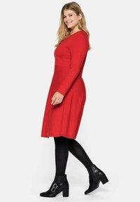 Sheego - Jumper dress - rot - 3
