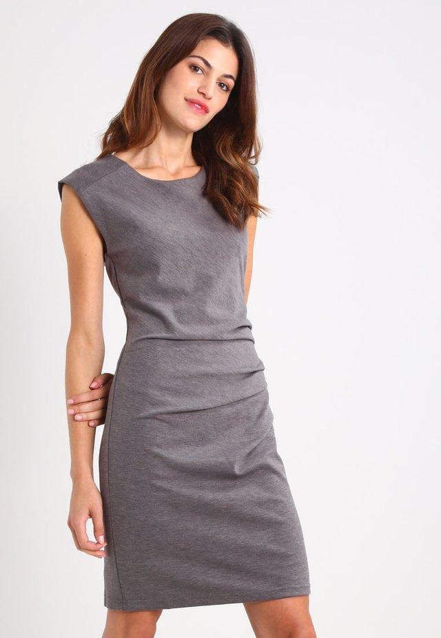 INDIA O NECK - Shift dress - dark grey melange