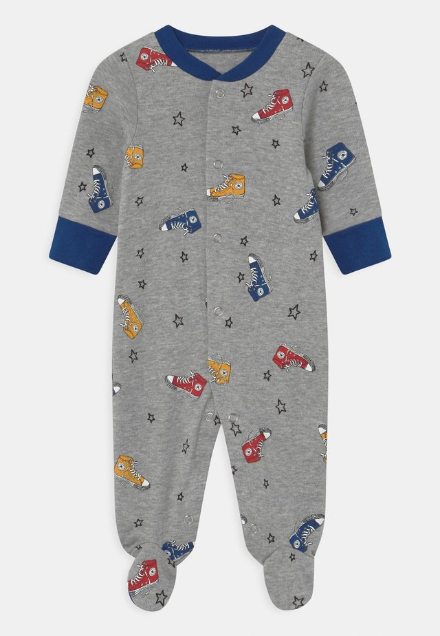 SNEAKER PRINTED FOOTED UNISEX - Sleep suit - dark grey heather