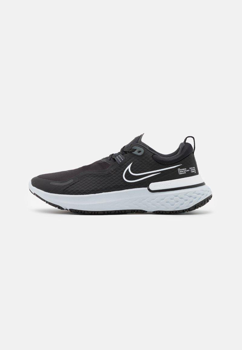 Nike Performance - REACT MILER SHIELD - Neutral running shoes - black/white/pure platinum/dark smoke grey/reflect silver