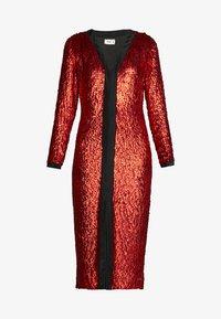 MANÉ - MAE DRESS - Cocktailkjole - black/rouge - 5