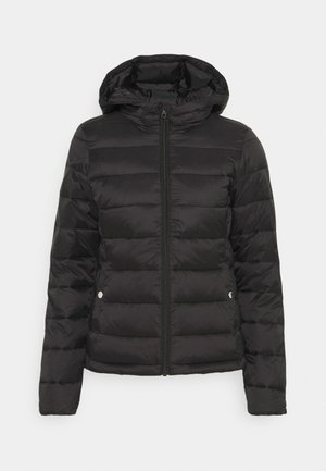 ONLSANDIE QUILTED HOOD JACKET - Light jacket - black