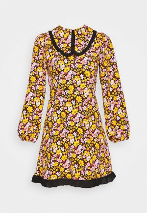 COLLAR FLORAL MINI DRESS - Sukienka letnia - multicolor