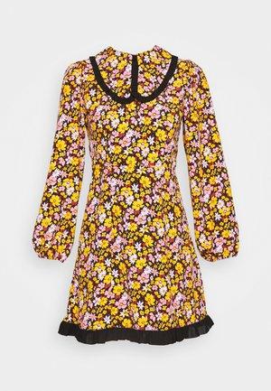 COLLAR FLORAL MINI DRESS - Day dress - multicolor