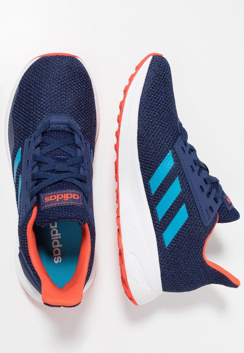 adidas Performance - DURAMO 9 - Laufschuh Neutral - dark blue/shock cyan/active orange