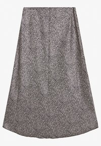 Abercrombie & Fitch - HIGH LOW MIDI SKIRT - A-line skjørt - black - 1