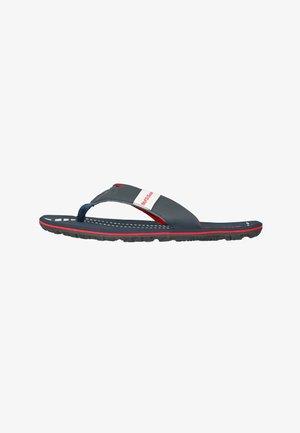 BEACH - PANTOLETTE - T-bar sandals - dunkelblau/rot