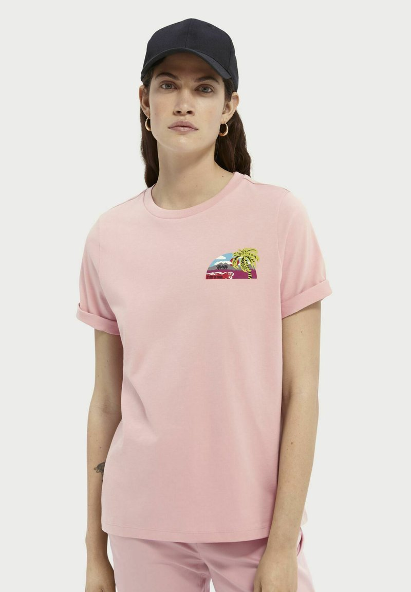 Scotch & Soda - Print T-shirt - petal pink