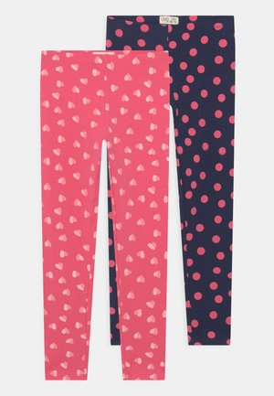 KID 2 PACK - Leggings - Trousers - eclipse/calypso coral