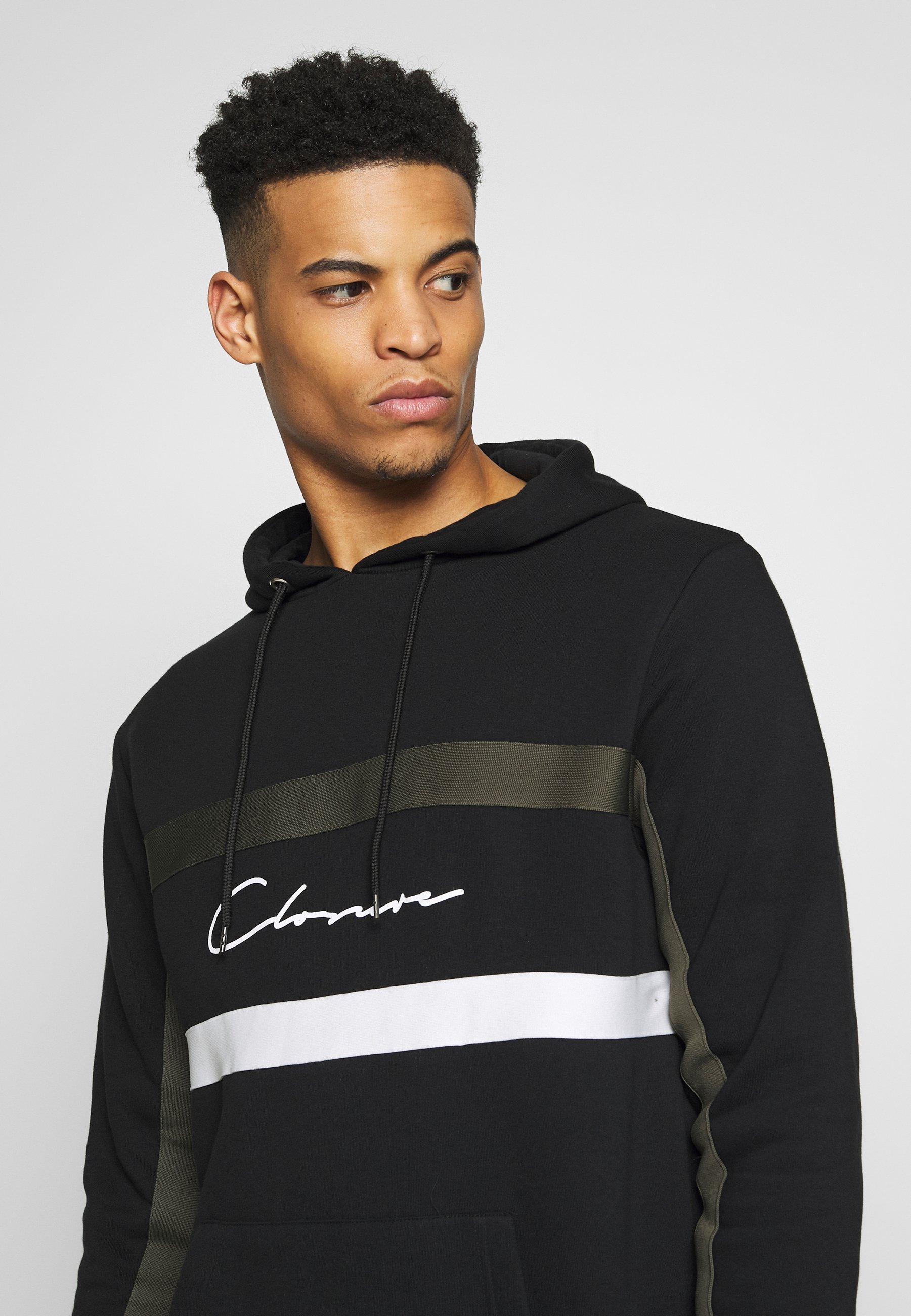 CLOSURE London BAND STRIPE HOODY - Hoodie - grey