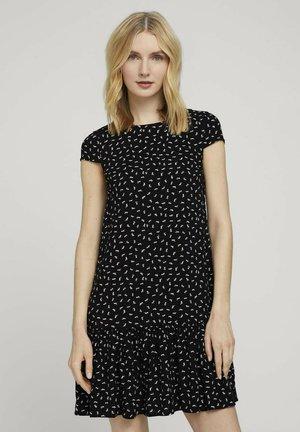 Day dress - black geometrical design